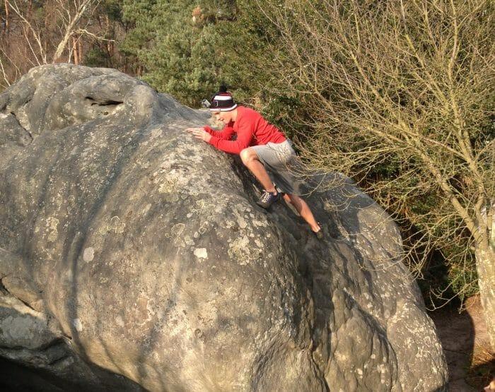 Dans le cadre « Les défis de Benoit » ce dernier est venu se mesurer à la pratique de l'escalade, et ce, avec succès !