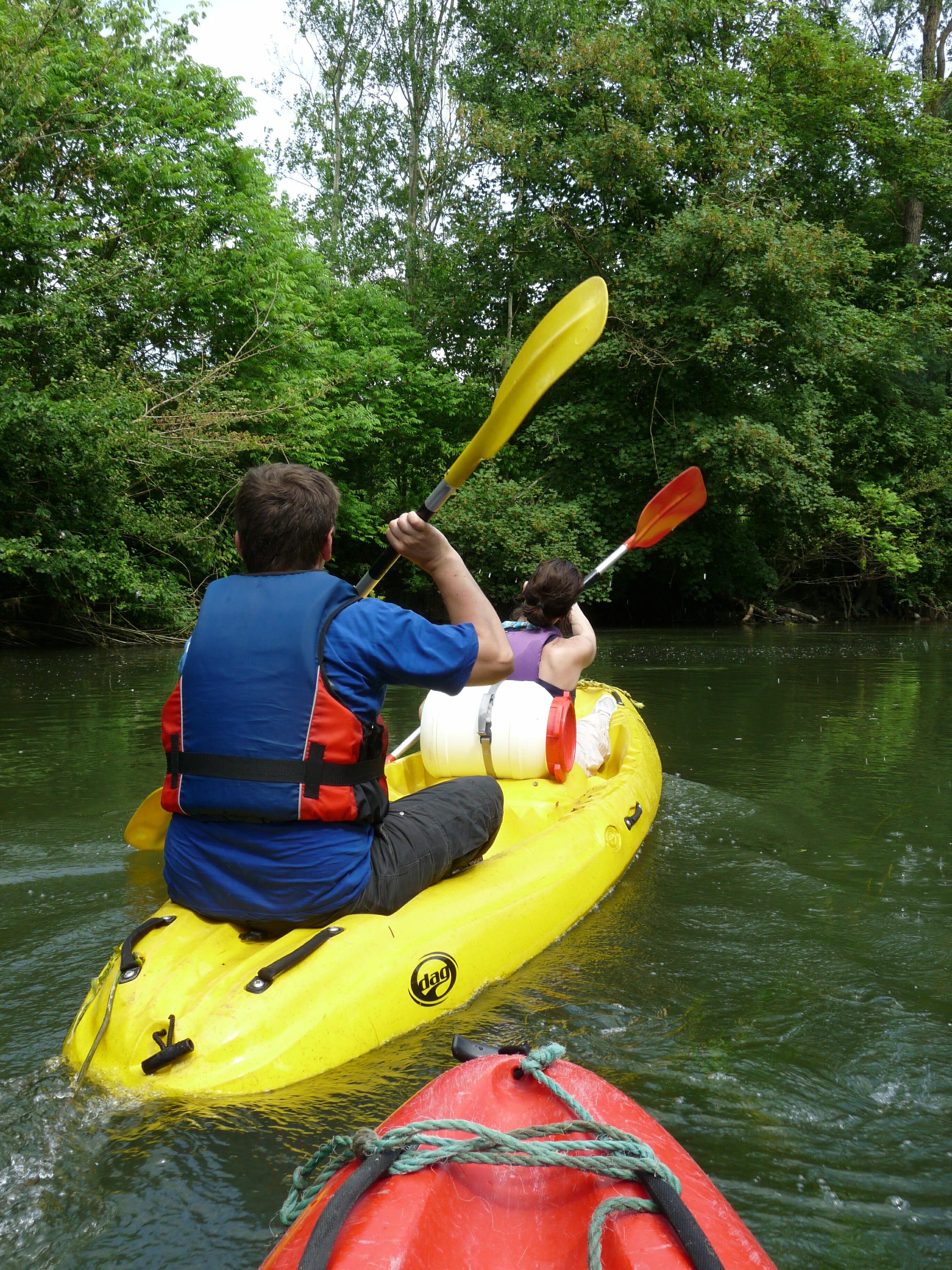 Arrivée en canoës à Moret sur Loing