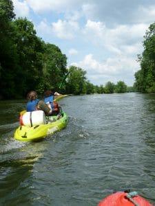 Randonnée en canoë kayak