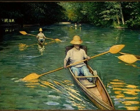 Gustave Caillebotte est né en 1848 à Paris, et mort à Gennevilliers en 1894. Élève de l'Ecole des Beaux-Arts de Paris, il y rencontre Degas, Monet et Renoir.